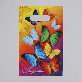 Пакет «Вдохновение», полиэтиленовый с вырубной ручкой, 20 х 30 см, 30 мкм