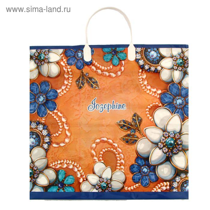 """Пакет """"Жозефина"""", полиэтиленовый с пластиковой ручкой, 38х35 см, 90 мкм"""