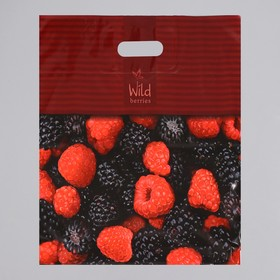 Пакет «Лесные ягоды», полиэтиленовый с вырубной ручкой, 44 х 44 см, 70 мкм