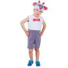 """Карнавальный костюм для мальчика от 1,5-3-х лет """"Барашек с бантиком"""", велюр, комбинезон, шапка"""