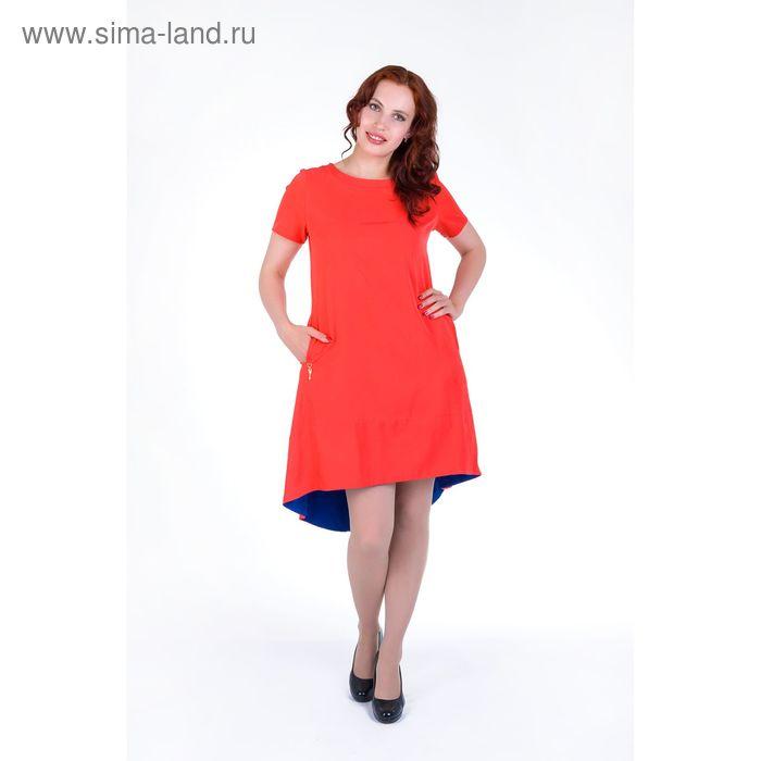 Платье женское, размер 44, рост 168, цвет арбуз (арт. 17250)