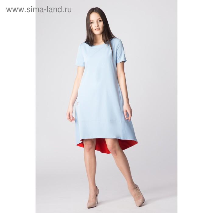 Платье женское, размер 48, рост 168, цвет голубой (арт. 17250)