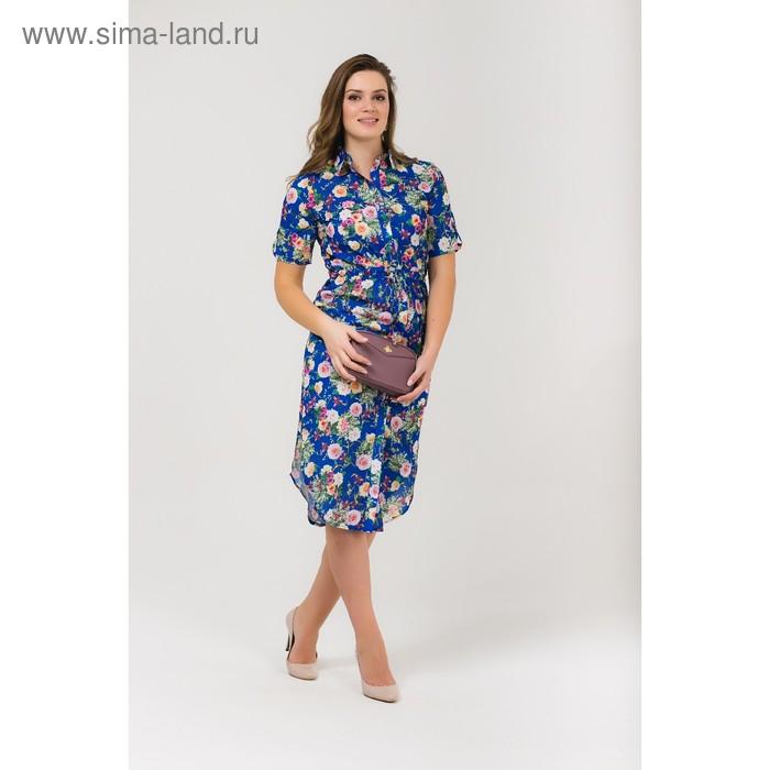 Платье женское, размер 56, рост 168, цвет электрик (арт. 17252 С+)