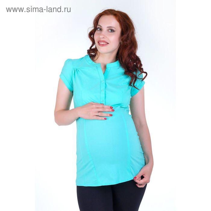 Блузка для беременных 2250 С+, размер 50, рост 170, цвет ментол