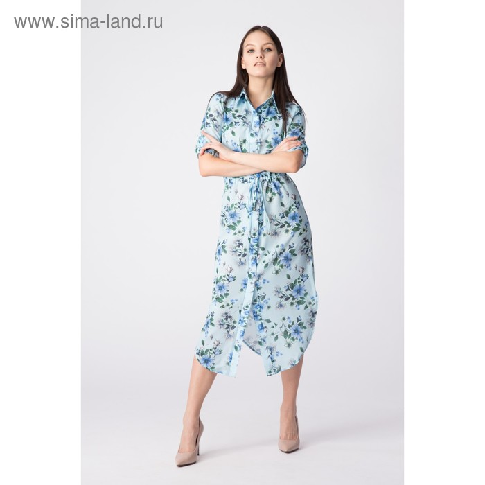 Платье женское, размер 48, рост 168, цвет голубой (арт. 17252)