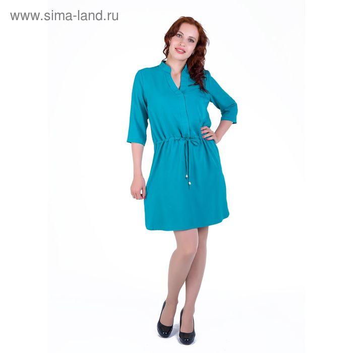 Платье женское, размер 54, рост 168, цвет бирюза (арт. 17248 С+)