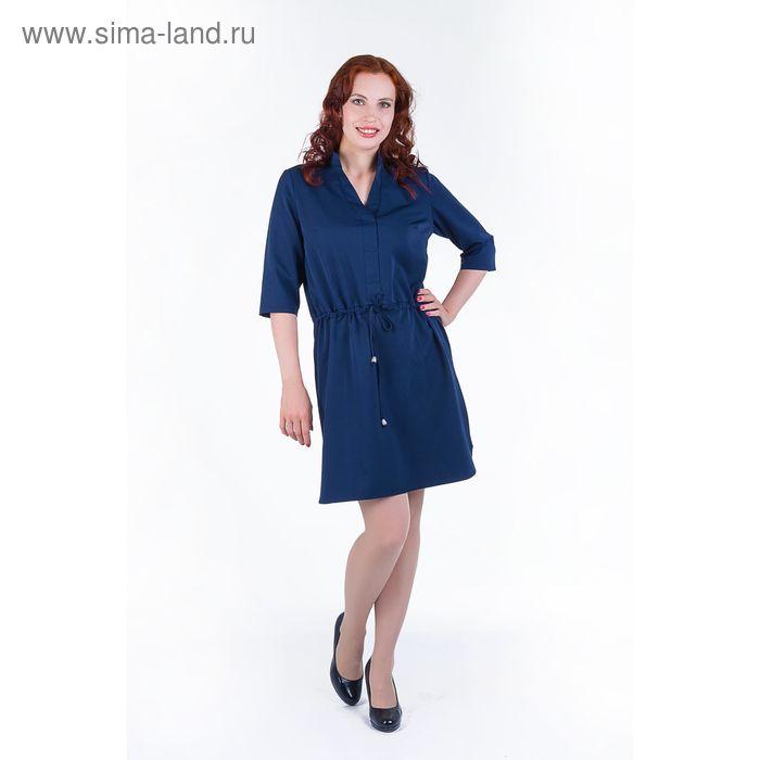 Платье женское, размер 46, рост 168, цвет темно-синий (арт. 17248)