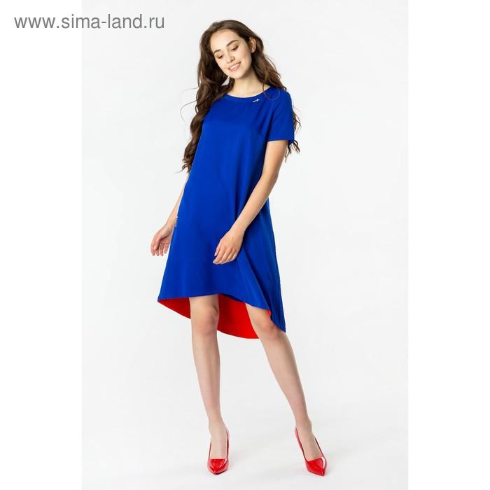 Платье женское, размер 48, рост 168, цвет электрик (арт. 17250)