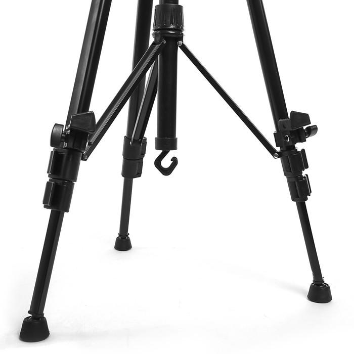 Мольберт телескопический, тренога, металлический с уровнем, ручкой, компасом