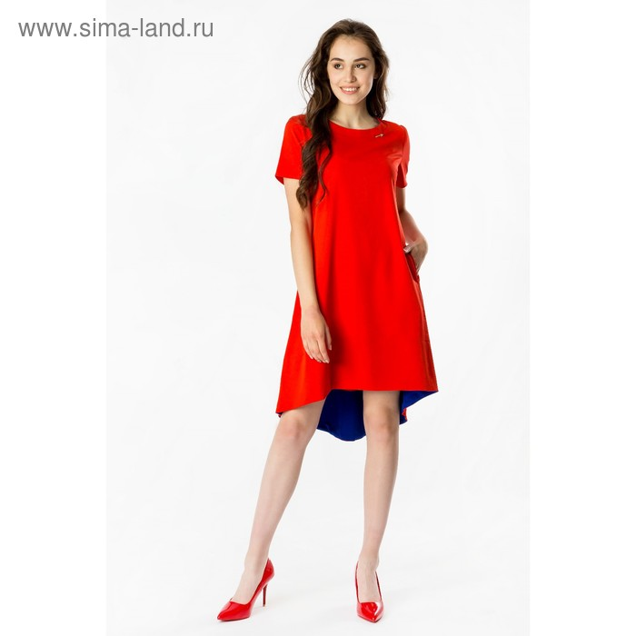 Платье женское, размер 44, рост 168, цвет красный (арт. 17250 С+)