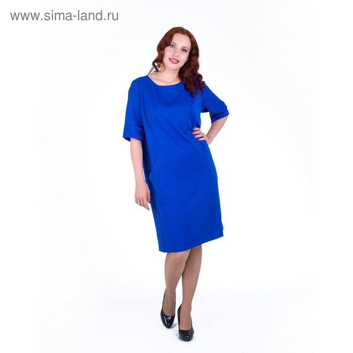 Платье женское, размер 54, рост 168, цвет электрик (арт. 17249 С+)