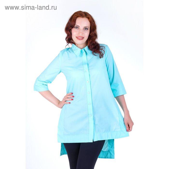 Платье женское, размер 54, рост 168,цвет мята х/б (арт.17247 С+)