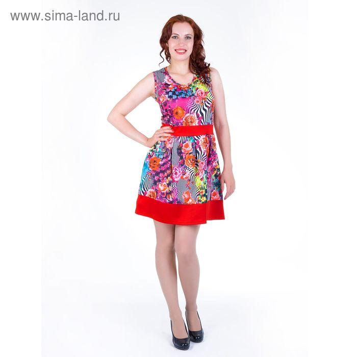 Платье женское, размер 48, рост 168, цвет красный (арт.17121)