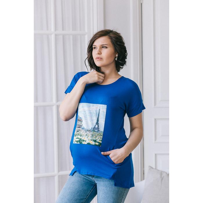 Блузка для беременных 2276, цвет электрик, размер 46, рост 170
