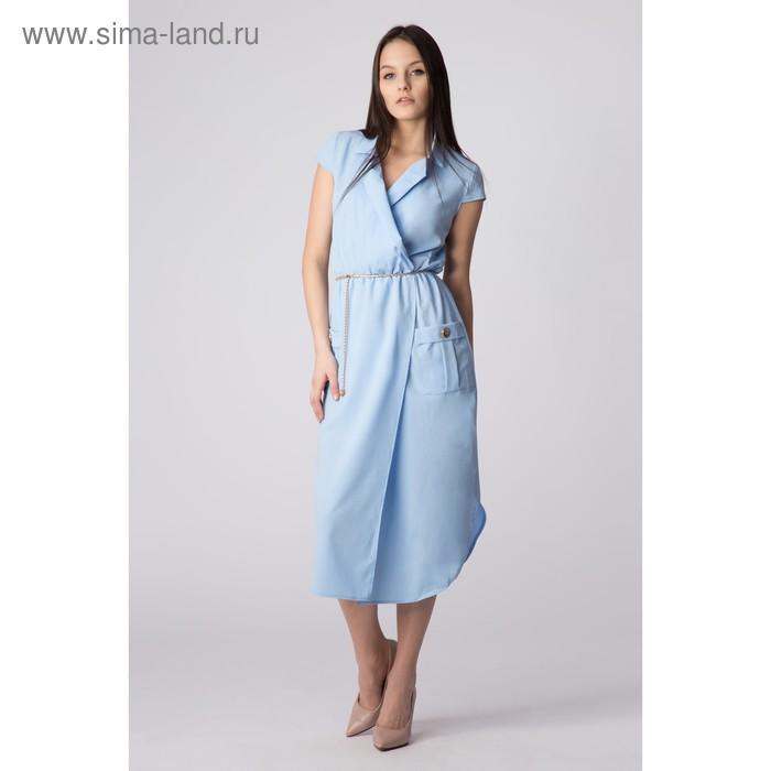 Платье женское, размер 46, рост 168, цвет голубой (арт. 17251)