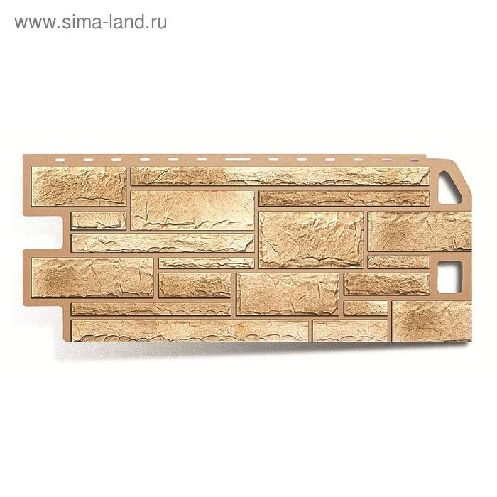 """Фасадная панель """"Камень"""", песчаник 1,14х0,48м"""