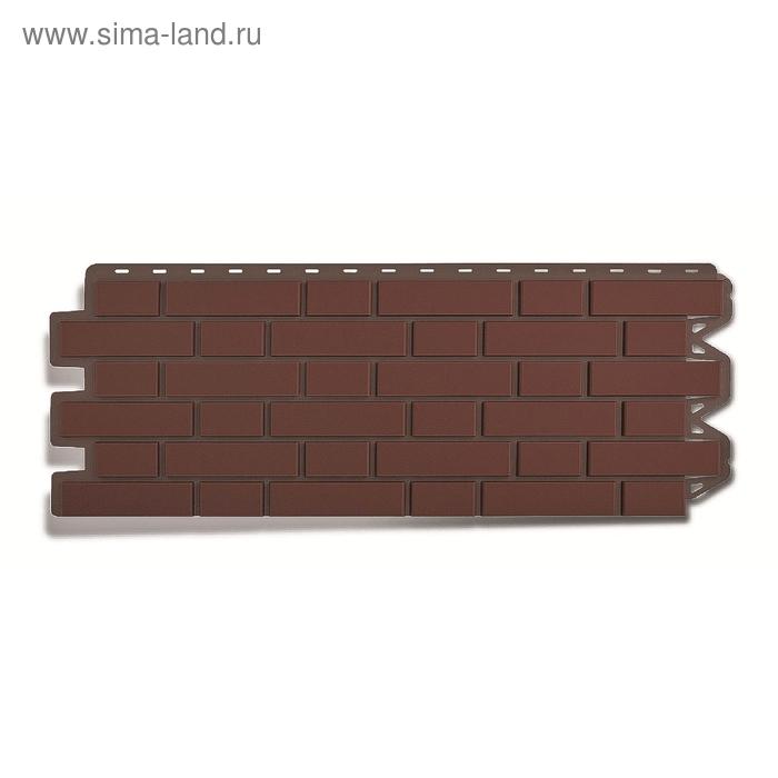 """Фасадная панель """"Кирпич клинкерный"""", жжёный 1,22х0,44м"""
