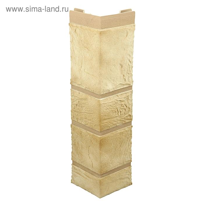 """Наружный угол """"Камень"""", песчаник 0,47 х 0,11м"""