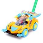 Каталка «Машинка гонка» на палочке, цвета МИКС