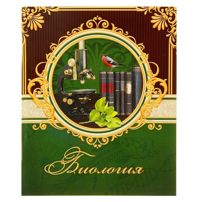 """Тетрадь предметная 48 листов """"Биология"""" классика"""
