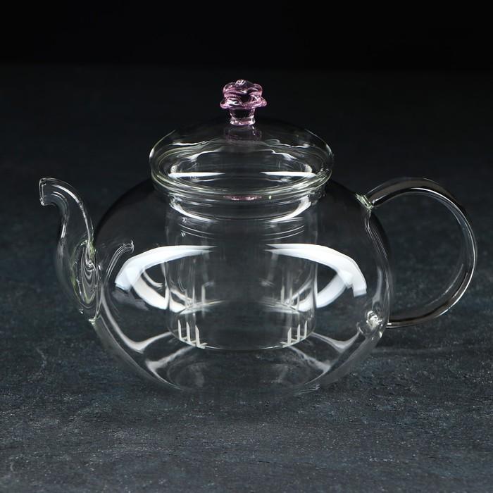 """Чайник заварочный 600 мл """"Валенсия с розой"""""""