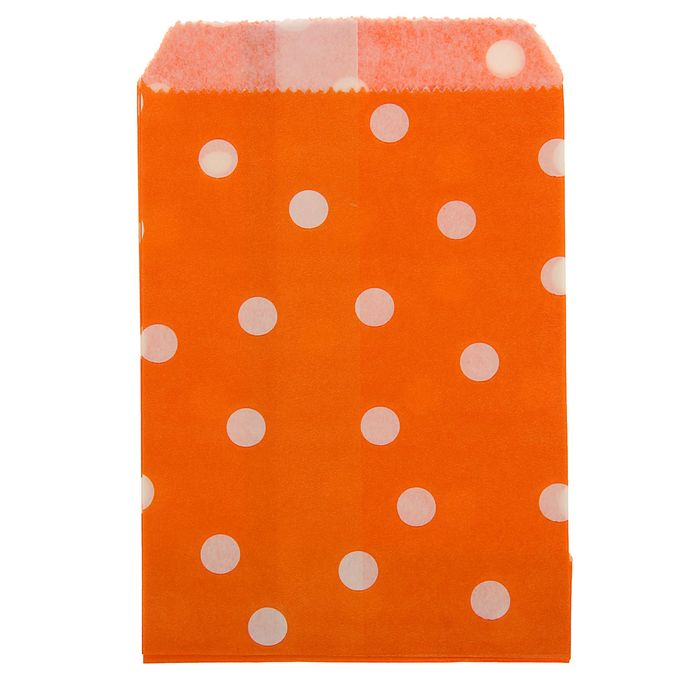"""Пакет фасовочный """"Горох"""", оранжевый, 10 х 15 см"""