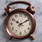"""Часы настенные интерьерные """"Большой будильник"""", коричневые, под старину"""