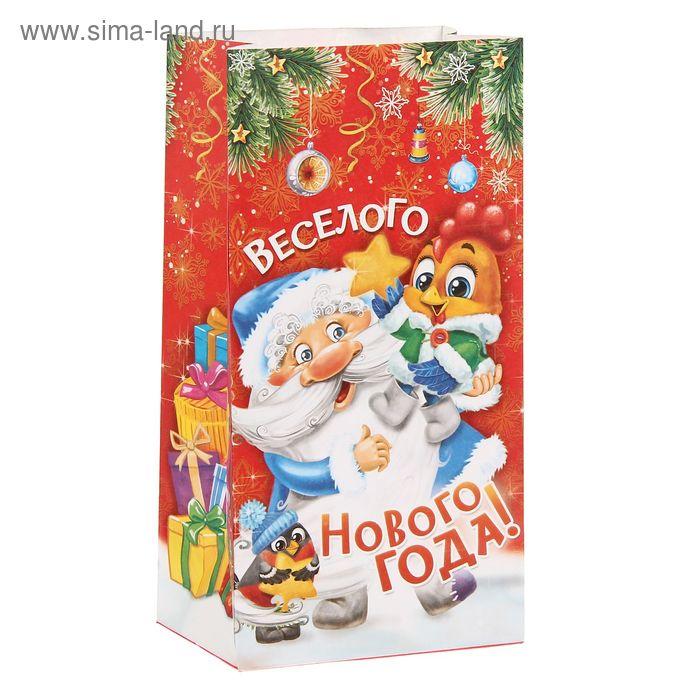 """Пакет подарочный без ручек """"Веселого Нового года"""""""
