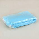 Пеньюар на резинке по декольте, голубой, 140х75см, 10 шт