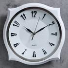 Часы настенные, квадратные, с острыми углами, хромированные, 31х31 см