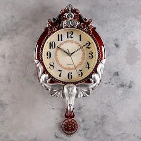 "Часы настенные, серия: Маятник, ""Филон"", 50х33 см, плавный ход"