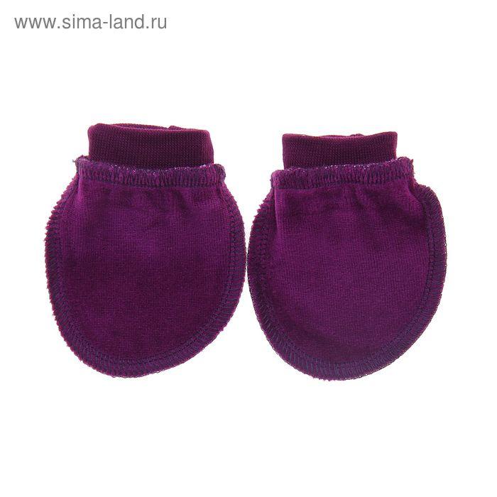 Рукавички детские, цвет фиолетовый (арт. 5-23)