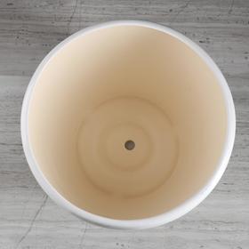"""Горшок для цветов """"Грация"""" глянец, чёрно-белый, 10 л - фото 1693546"""