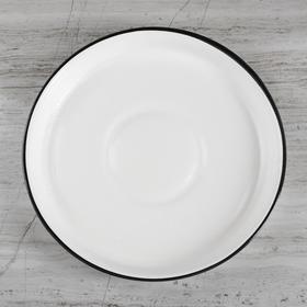 """Горшок для цветов """"Грация"""" глянец, чёрно-белый, 10 л - фото 1693547"""