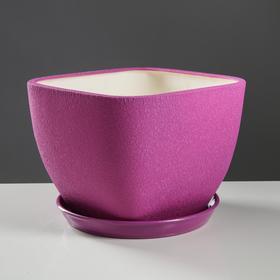 """Горшок для цветов """"Ноктюрн"""" шёлк, фиолетовый, 11,5 л - фото 1693541"""