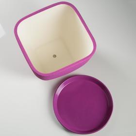 """Горшок для цветов """"Ноктюрн"""" шёлк, фиолетовый, 11,5 л - фото 1693542"""