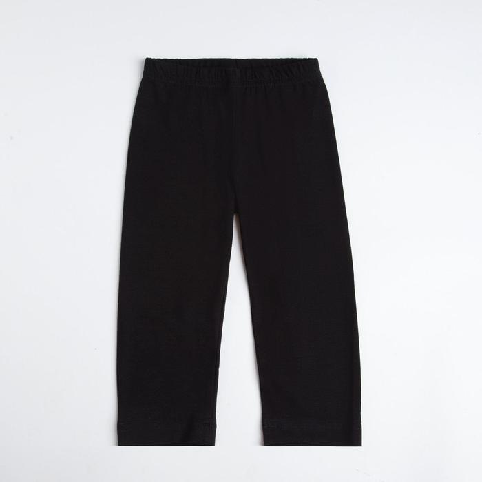 Бриджи для девочки, рост 110 см, цвет чёрный (арт. 420)
