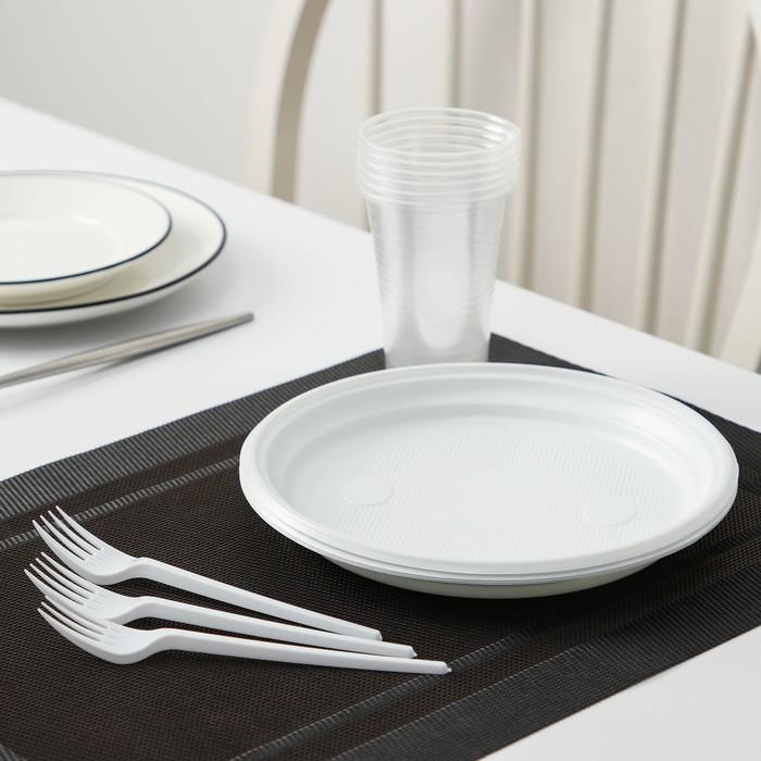 Набор для пикника «Пикник», 6 персон, цвет белый
