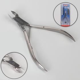 Кусачки маникюрные, одинарная пружина, 10 см, длина лезвия - 6 мм, цвет серебристый, КСС 1 M SS