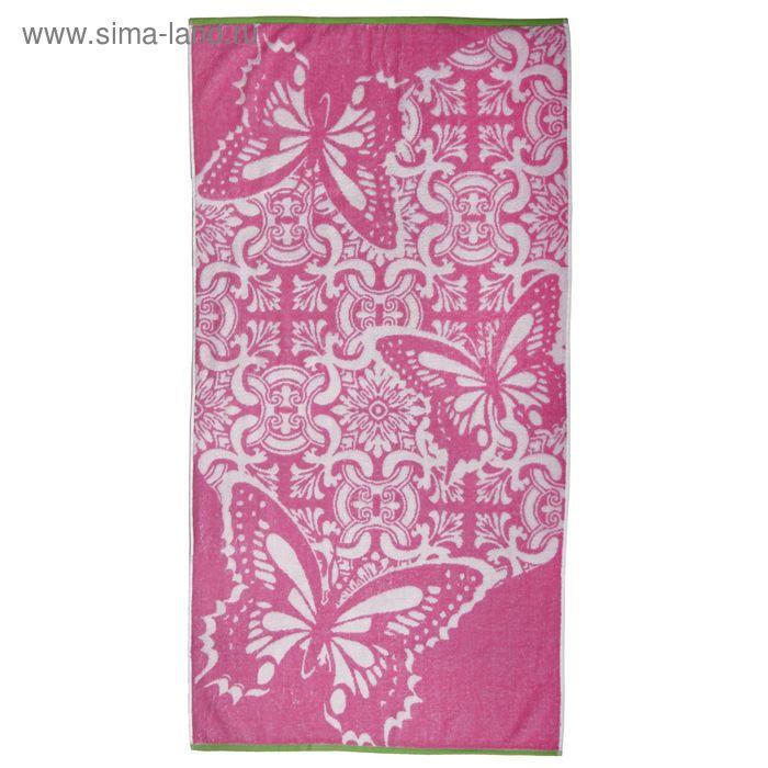 Полотенце махровое Macaone rosa, размер 50х90 см, хлопок 100%, 420 гр/м2 (ПЦ-2602-1936)