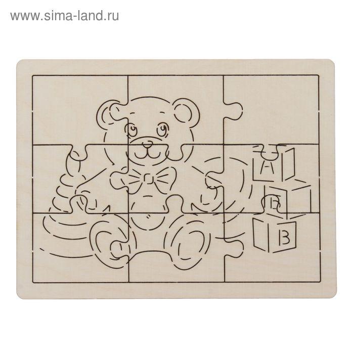 "Рамка с пазлами ""Мишка"", 19х15 см"