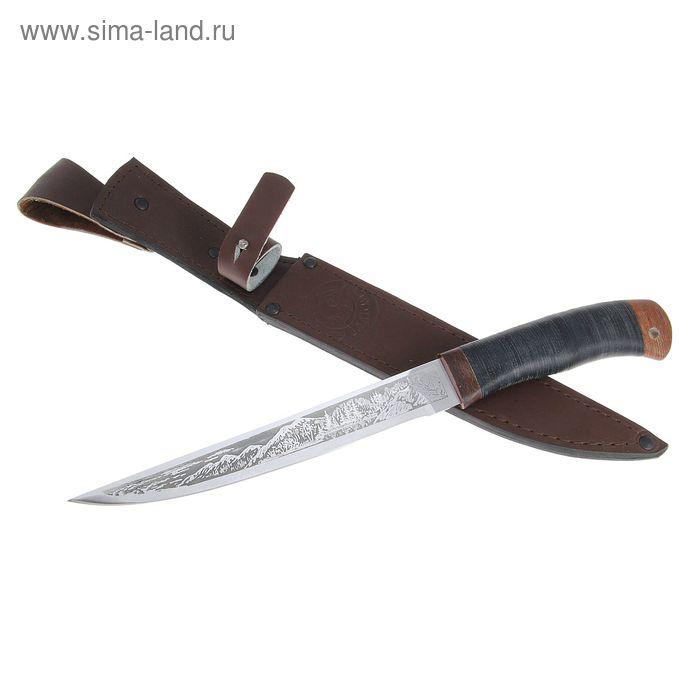 Нож НС-33 г.Златоуст, рукоять-кожа, сталь 40Х10С2М