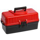 Ящик универальный 42,5х22,4х20 см с крышкой, раздвижной, цвет черно-красный