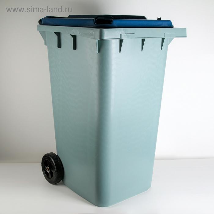 Контейнер универсальный 240 л, на колёсах, цвет синий