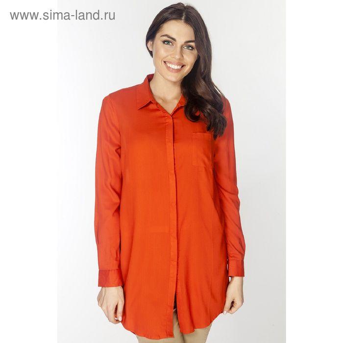 Туника женская L3166 цвет оранжевый, размер  S(44)