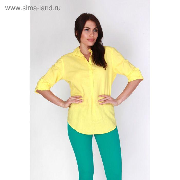 Блузка женская L15-425 цвет жёлтый, размер  M(46)