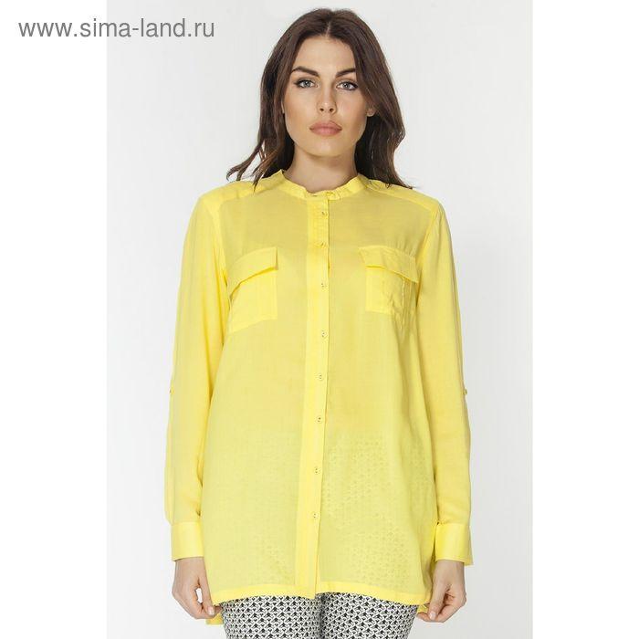 Блузка женская L3130 цвет жёлтый, размер  L(48)