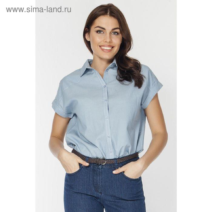 Блузка женская, цвет голубой, размер XXL (52) (арт. L3132 С+)