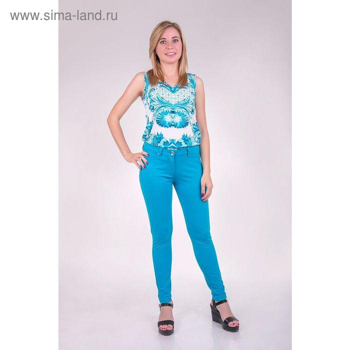 Легинсы женские JL6084 цвет ярко-голубой, размер  XS(42)