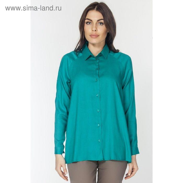 Блузка женская, цвет изумрудный, размер XXXL (54) (арт. L3161 С+)